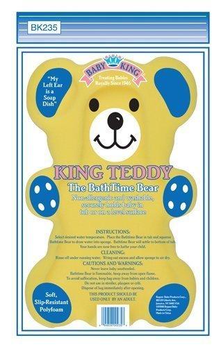 (Baby King Baby Bathing Bear Bath Sponge, Yellow)
