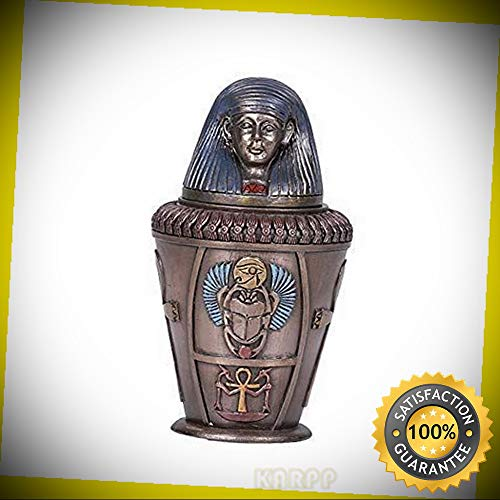 KARPP Pacific Giftware Ancient Egyptian Imsety Canopic Jar Home Decor 5.75''H Perfect Indoor Collectible Figurines