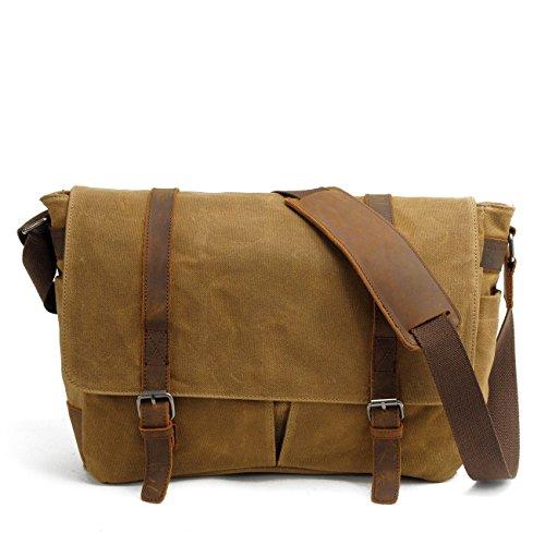 96cf857094 Nuovo, retro, personalità, cerata impermeabile, borsa di tela, borsa a  tracolla