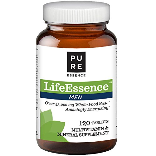 Pure Essence Labs LifeEssence Mens Formula - World's Most Energetic Multiple - The Master Multiple - 120 Tablets