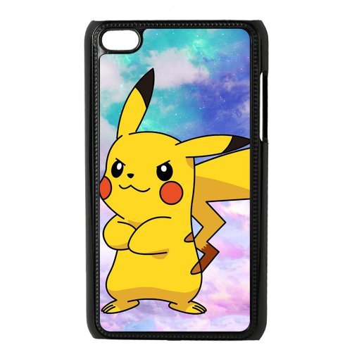 Case.Store-Pikachu Phone Case Customized Hard Snap-On Plastic Case for iPod Touch 4, 4th Generation Cases iPod 4 TY068 (4th Pikachu Case Ipod Generation)