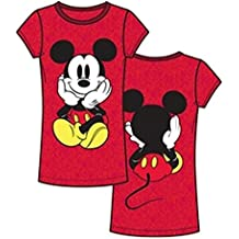 Disney Mickey Mouse Tee Front and Back Junior Girls Fashion Top T Shirt