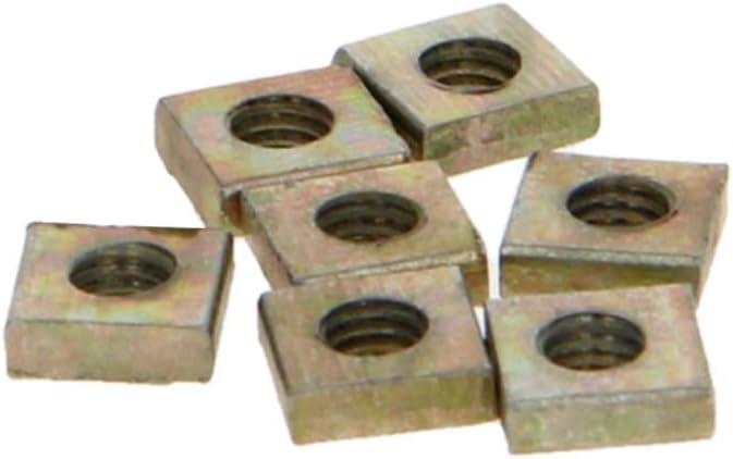 M3x5.5x2mm Zinc Plated Square Screw Nuts 100pcs