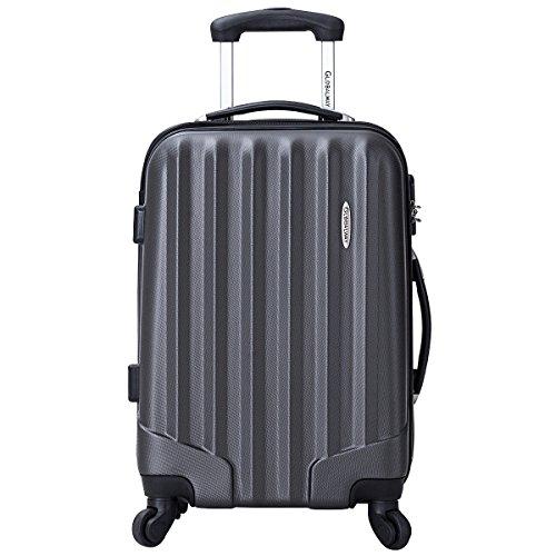 Goplus 3 Pcs Luggage Set ABS Hardshell Travel Bag Trolley Suitcase w/TSA Lock (Grey) by Goplus (Image #2)