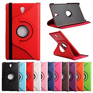 "ZX 360 Degree Rotating PU 8.4"" Case with Stand for Samsung Galaxy Tab S T700 (Assorted Colors) , Rose"