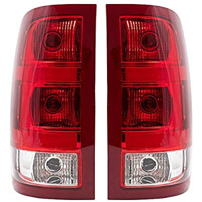 Replacement Driver and Passenger Set Tail Lights Compatible with 2007-2013 Sierra Pickup Truck 25958484 25958485: Automotive