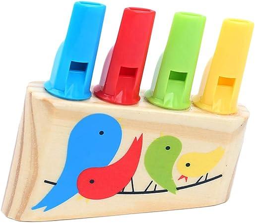 TOYANDONA Bambini Bambini Legno Fila Fila fischietti Strumenti Musicali Suoni Pan Flut Toys 1pz