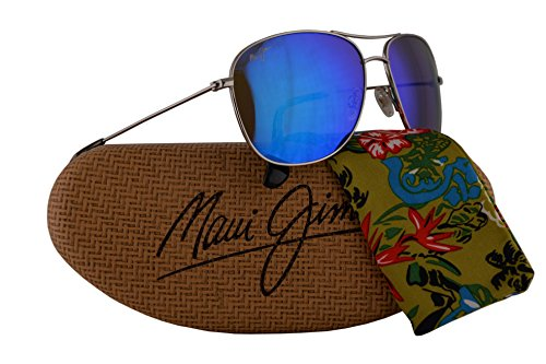 Maui Jim Cliff House Sunglasses Silver w/Polarized Blue Hawaii Lens - Maui Bifocal Jim