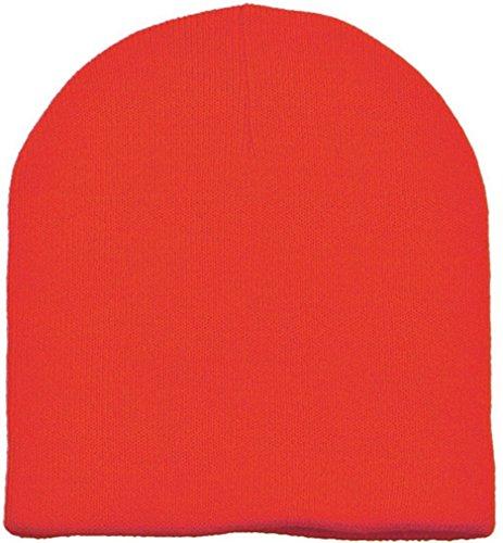 Simplicity Men /Women Ski Snowboarding Sports Beanie Skull Hat, Safety Orange