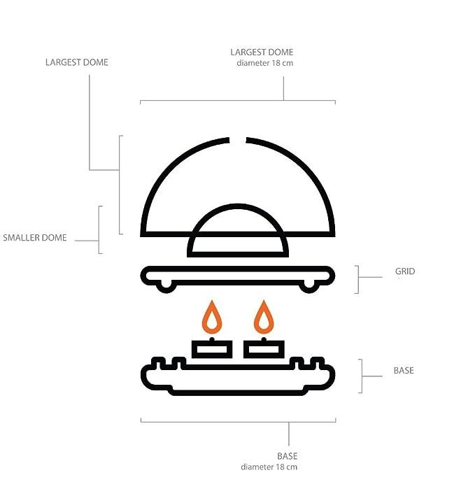 Brasero de sobremesa - Calentador a Velas - Calefactor de cerámica - Natural: Amazon.es: Hogar