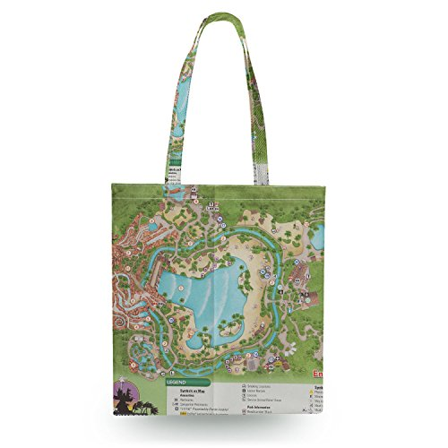 Typhoon Lagoon Map Canvas Tote Bag - Zipper Canvas Tote - Map Lagoon Typhoon Of