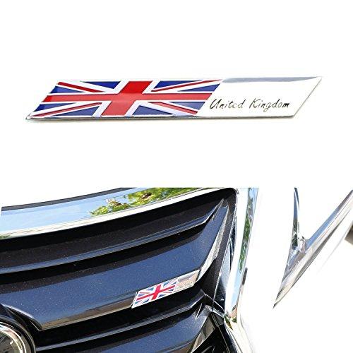 [해외]자동차 전면 그릴, 사이드 펜더, 트렁크, 대시 보드 핸들링 휠 등을위한 알루미늄 플레이트 플래그 엠블럼 배지/iJDMTOY Aluminum Plate Flag Emblem Badge For Car Front Grille, Side Fenders, Trunk, Dashboard Steering Wheel, etc