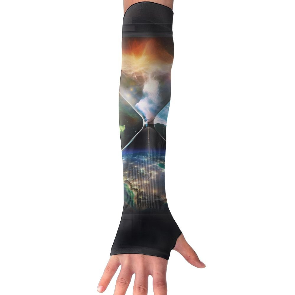 Suining Unisex Fantasy Hourglass Sunscreen Outdoor Sports Arm Warmer Long Sleeves Glove
