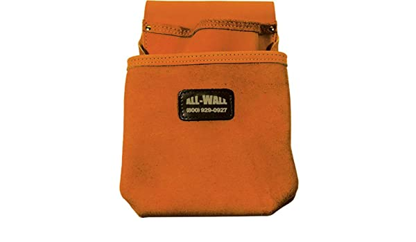 Perma Pouch Top Grain Leather 2-Pocket Nail//Screw Pouch