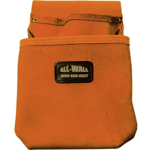 Perma Pouch Top Grain Leather 2-Pocket Nail / Screw Pouch