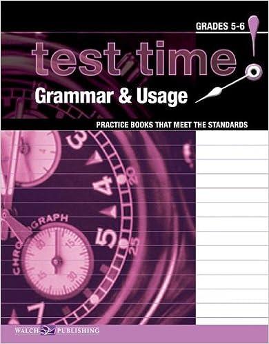 Gratis bestselgere bøker nedlastingTest Time! Grammar & Usage: Practice Books That Meet The Standards, Grades 5-6 in Norwegian PDF DJVU 0825150019