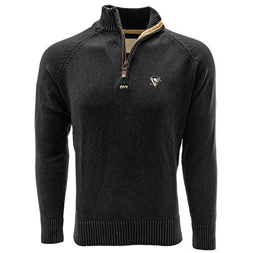 Penguin Jersey Sweater - Levelwear LEY9R NHL Pittsburgh Penguins Adult Men Excalibur Quarter Zip Sweater, X-Large, Charcoal