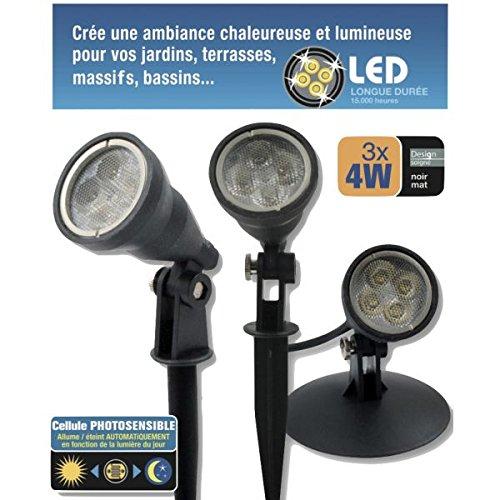 Kit 3 spots LED 4W étanches IP68 Electris