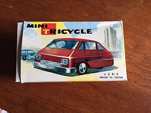 MINI TRICYCLE FRICTION TIN TOY LITHO MADE IN CHINA MF993