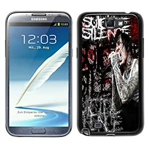 Fashionable Samsung Galaxy Note 2 N7100 Case ,Unique Designed With Suicide Silence 01 black Samsung Galaxy Note 2 N7100 Cover High Quality Phone Case