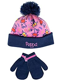 Peppa Pig Girls' Peppa Pig Hat and Gloves Set Multicolored One Size
