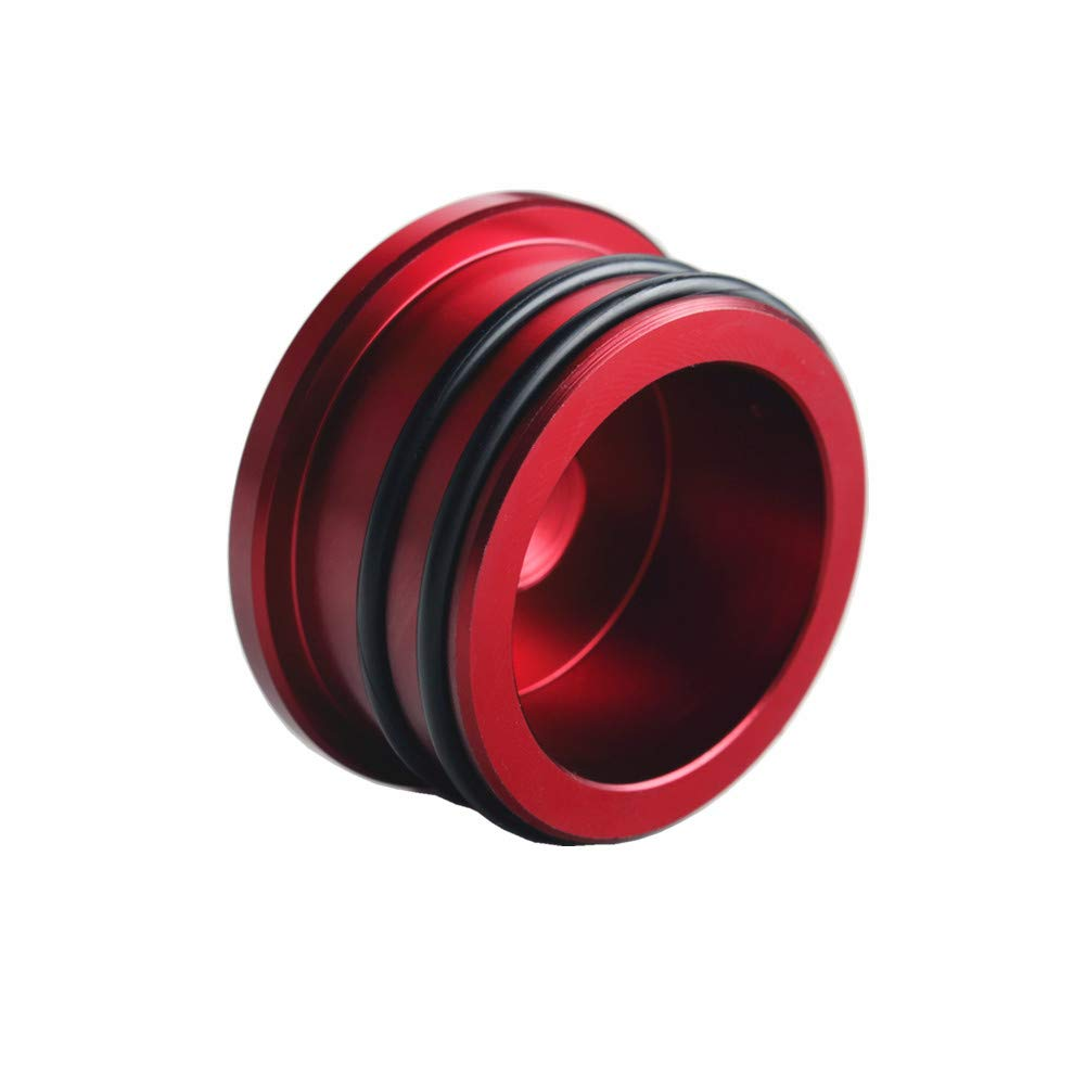 Red Dewhel Billet Turbo Resonator Plug Cover Cap For Chevy 2004.5-2010 Duramax Diesel LBZ LLY LMM