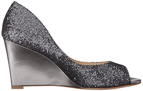 Badgley Mischka Womens Wedge Sandalo In Peltro