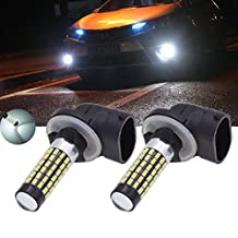 TUINCYN 900 Lumens 3014 78SMD Leds Super Bright 894 881 886 889 896 898 LED Bulbs Universally Used for Fog Light Daytime Running Light Automotive Driving Lamp DC 12V-24V 4W (Pack of 2)