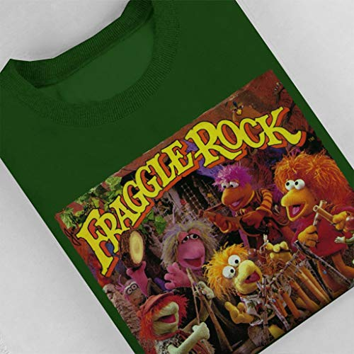 Bottle Green Retro Fraggles Women's Fraggle Sweatshirt Rock qW88fPwX