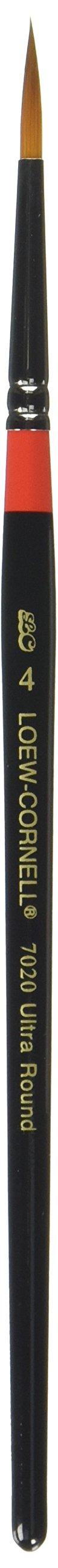 Loew-Cornell Golden Taklon Ultra Round Brush-Size 4 (7020-4) by Loew-Cornell