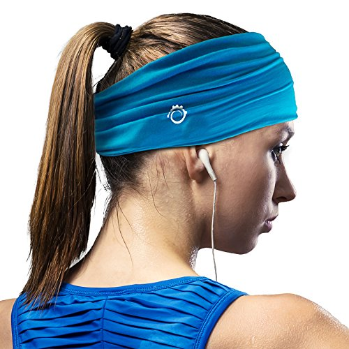 Guys Sweatband and Mens Headband. Stretch Moisture Wicking, Best Yoga and Sports Headbands for Men and Women. Optimize your Athletic - For Aviators Are Guys
