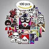 #8: Sticker Decals Vinyls [100pcs] for Laptop,Kids,Cars,Motorcycle,Bicycle,Skateboard Luggage,Bumper Stickers Waterproof Random Stickers, Snowboarding Guitar Helmet Phone Graffiti Stickers
