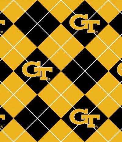 (Premium Anti-Pill Georgia Tech Argyle Fleece B585 )