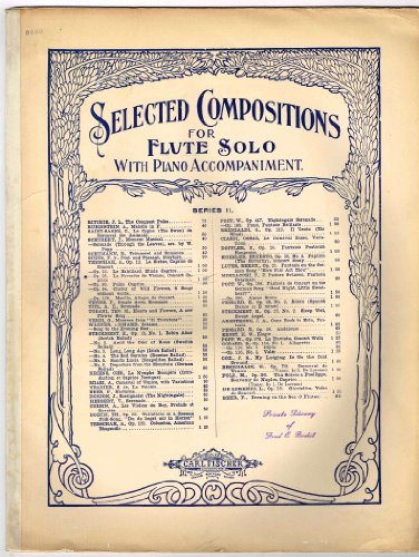 Op. 25. La Favorite de Vienne, Concert Caprice: Flute SOLO (Selected Compositions for Flute Solo With Piano Accompaniment series II) Superior Edition 6080