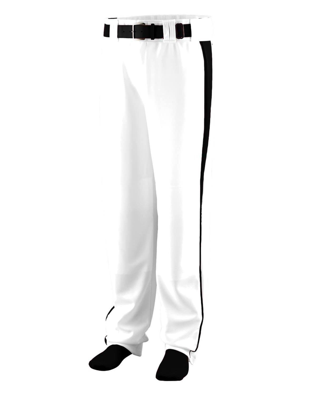Augusta SportswearメンズTriple Play Baseball Pant B00HJTOEUC Medium ホワイト/ブラック ホワイト/ブラック Medium