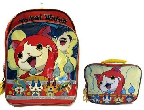 Wingsmarketshop Yo-Kai Watch Jibayan Crew 16 inch Backpack and Lunch Box Set DESIGN - Kai Sunglasses