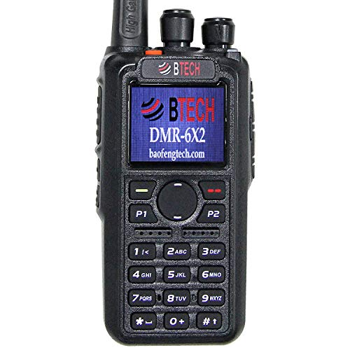 BTECH DMR-6X2 (DMR Analog) 7-Watt Dual Band Two-Way Radio