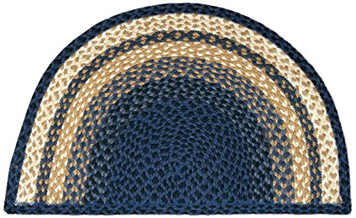 (Earth Rugs 32-SM079 Slice Rug, 18 by 29-Inch, Light Blue/Dark Blue/Mustard)