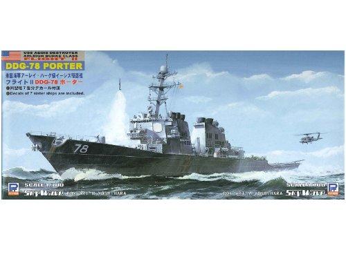 Skywave 1/700 US Arleigh Burke Class DDG78 Flight II Porter Missile Destroyer Model Kit