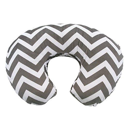 My Blankee Chevron Minky Nursing Pillow Slipcover, Charcoal, 18