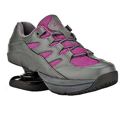 Z-CoiL Women's Freedom Slip Resistant Fuchsia Leather Tennis Shoe 5 C/D US
