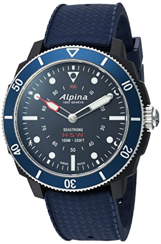 Alpina Men's AL-282LNN4V6 Horological Smart Watch Analog Display Quartz Blue ()