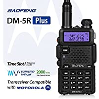 Baofeng DM-5R Plus Dual Band DMR Digital Radio Walkie Talkie, VHF / UHF 136-174 / 400-480MHz Two-Way Radio Transceiver, Compatibale with MOTOROLA, Black