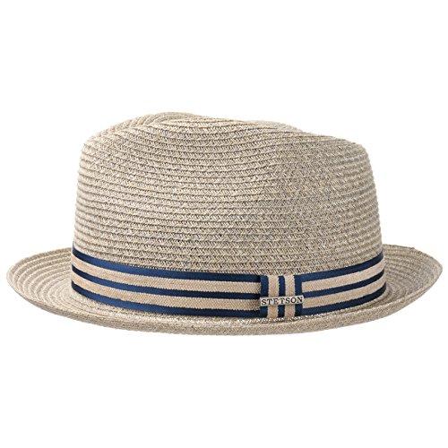 Banda Sol Con Beige De Grosgrain Playa verano Player Hombre Primavera Sombrero Hemp Stetson qwRaY8q