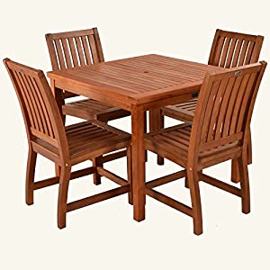 hgg keruing hardwood garden furniture square garden table 4 seater patio set garden dining set outdoor solid wood garden furniture - Garden Furniture 4 Seater