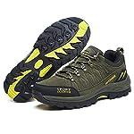 Chaussures de Randonnée Outdoor pour Hommes Femmes Basses Trekking et Les Promenades Sneakers Verte Bleu Noir 36-47 14