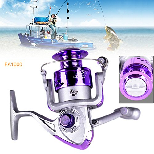 XY ZONE 8BB 5.2/1Gear Ratio Saltwater/Freshwater Metal Fishing Spinning Reel FA1000
