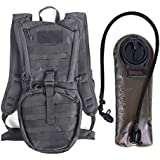 Unigear Tactical Hydration Pack Backpack 900D with 2.5L Bladder for Hiking, Biking, Running, Walking and Climbing