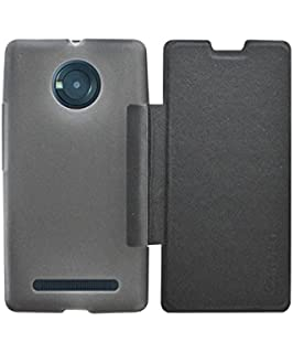 wholesale dealer 79f1c 3d23b COVERNEW Flip Cover for YU Yunique YU4711 Black: Amazon.in: Electronics