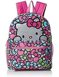 Girls' Glitter 16 Inch Backpack, Pink